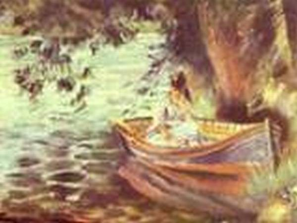Woman in a boat 1867 xx private collection